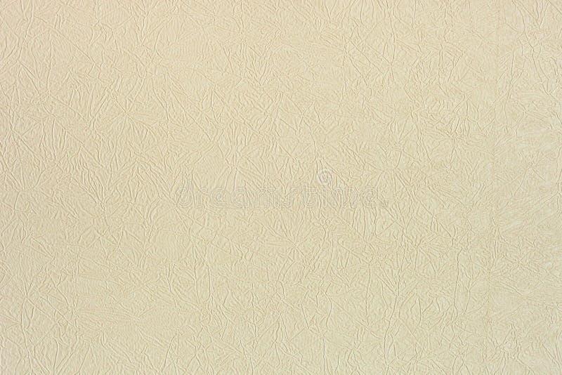 Текстура цвета слоновой кости предпосылки искусственной кожи стоковая фотография rf