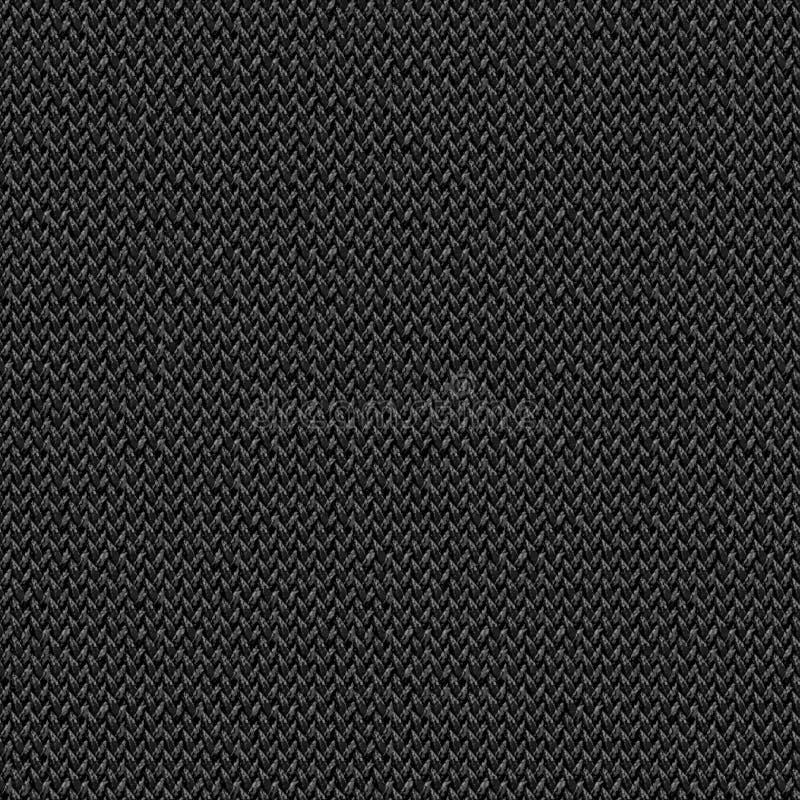 Текстура черной ткани безшовная Карта текстуры для 3d и 2d стоковая фотография