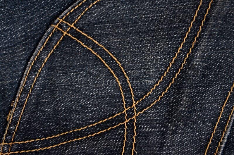 Текстура черной ткани джинсовой ткани стоковое изображение