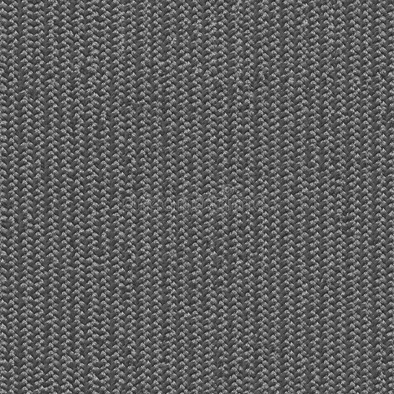 Текстура черно-белой ткани безшовная Карта текстуры для 3d и 2d бесплатная иллюстрация