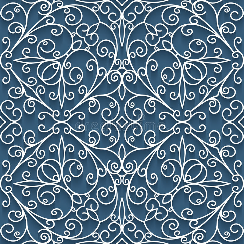 Текстура шнурка выреза бумажная, безшовная картина иллюстрация штока