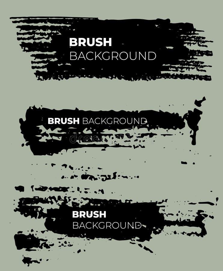 Текстура щетки grunge вектора бесплатная иллюстрация