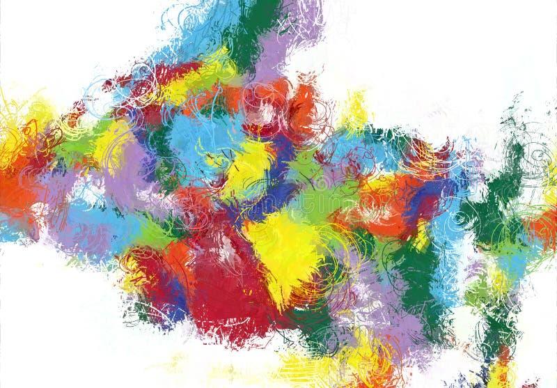 Текстура эскиза абстрактного искусства Красочные цифров нарисованные линии цветастая текстура современное художественное произвед стоковая фотография