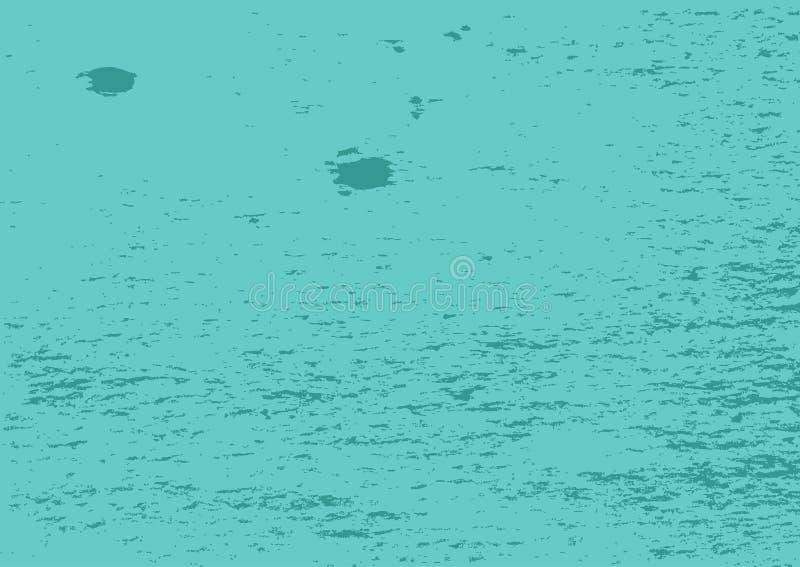 Текстура grunge бирюзы с пятнами и штриховатостями Прямоугольная постаретая предпосылка иллюстрация штока