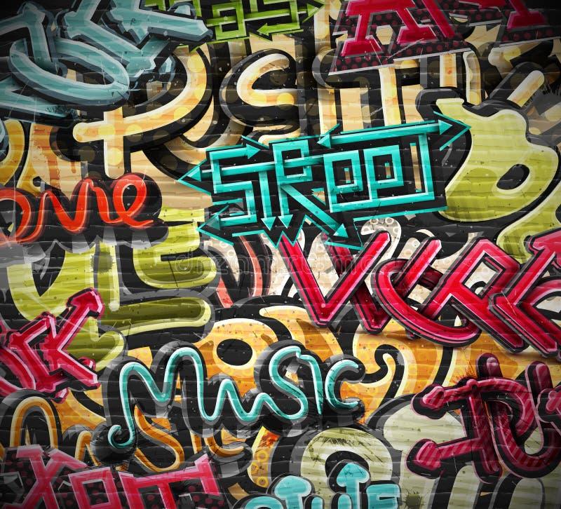 Текстура grunge граффити иллюстрация вектора