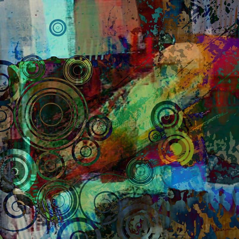 текстура grunge предпосылки абстрактного искусства иллюстрация вектора