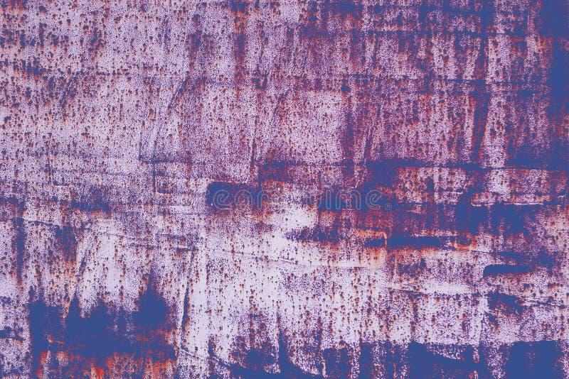 Текстура Grunge ретро покрашенная Покрашенная затрапезная поверхность с ржавчиной и старой краской абстрактная предпосылка ретро стоковые изображения rf
