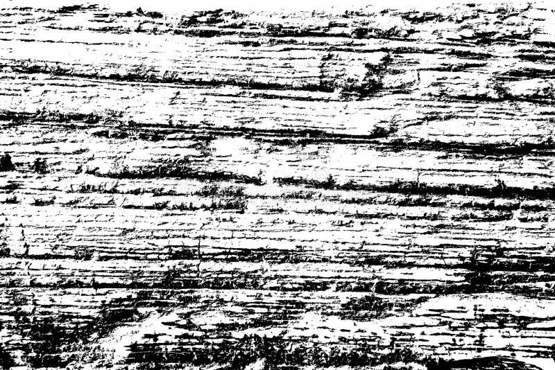 Текстура Grunge, стена черно-белой детали деревянная, верхний слой дистресса стоковая фотография
