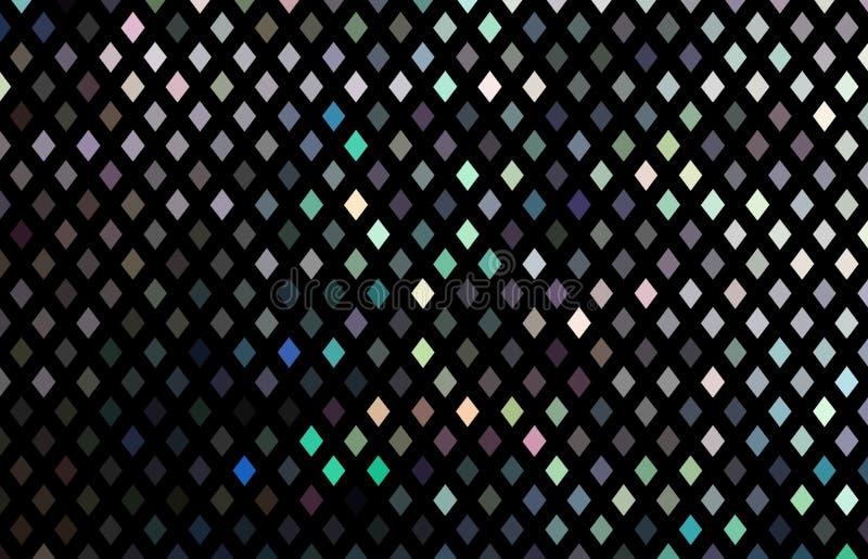 Текстура hologram мозаики кристаллов зеркала Shimmer праздничная темная предпосылка иллюстрация штока