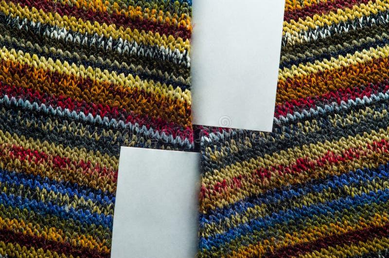 Текстура Knit с белым пустым пространством стоковое фото
