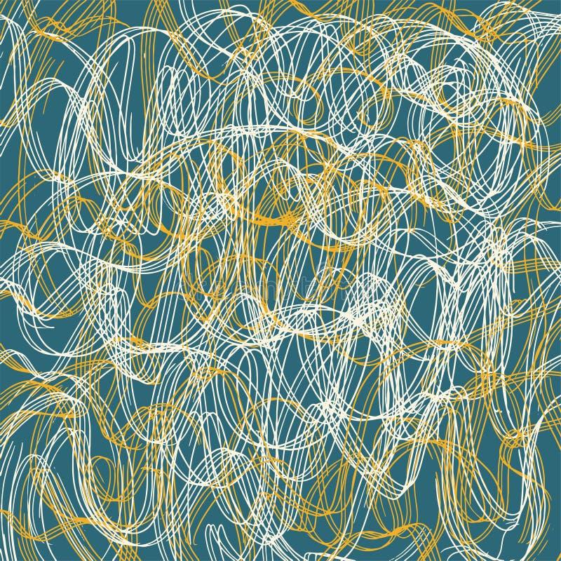Текстура scribble карандаша Геометрическая простая печать ткани моды Абстрактная концепция предпосылки r Бумажное искусство иллюстрация штока