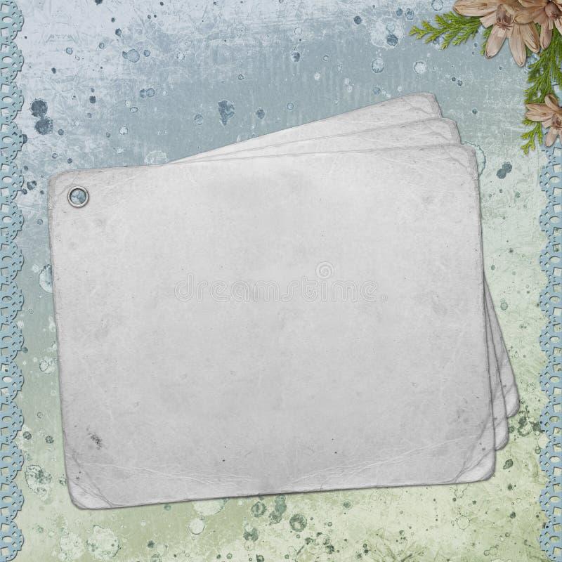 текстурированная бумага примечания предпосылки пустая иллюстрация штока