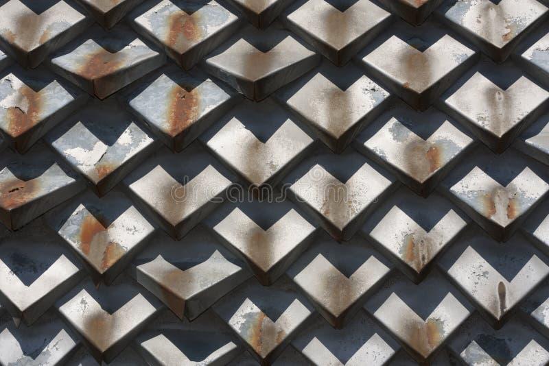 Текстурированная геометрия ржавчины металла Элемент фото дизайна стоковая фотография