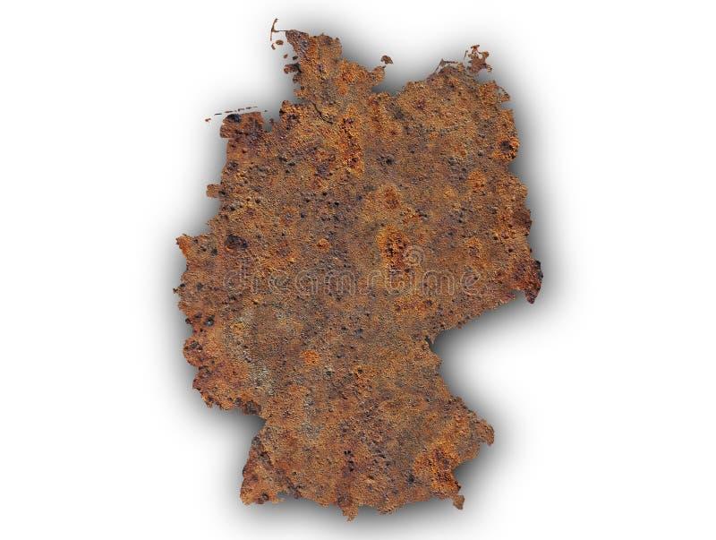 Текстурированная карта Германии в славных цветах стоковое фото