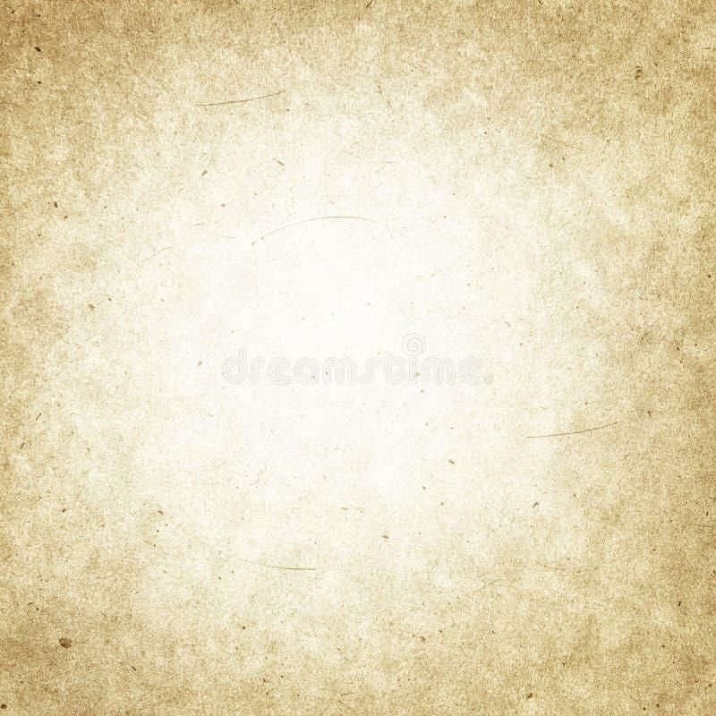 Текстурированная предпосылка бумаги grunge Брайна старая, ретро, беж, пятно иллюстрация штока