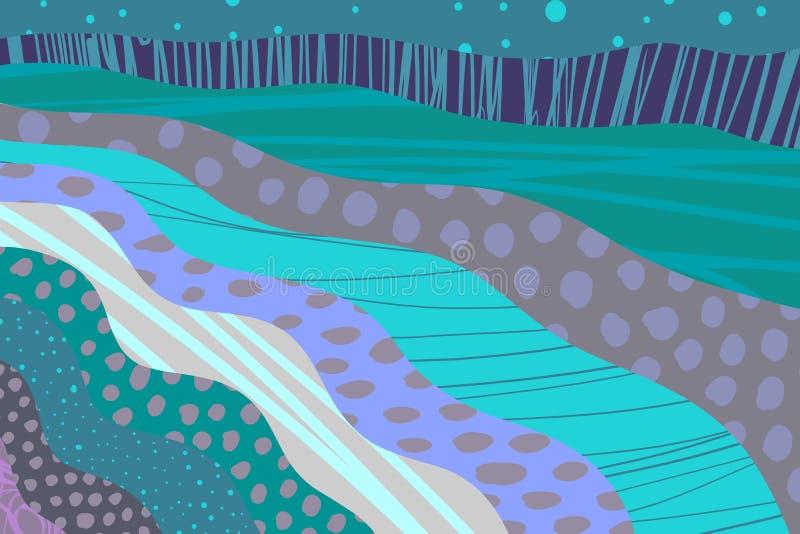 Текстурированная предпосылка мультфильма руки мультфильма вычерченная Живые цвета и различные формы бесплатная иллюстрация