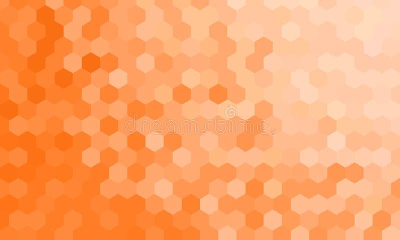 Текстурированные шестиугольником декоративные обои предпосылки конспекта вектора бесплатная иллюстрация