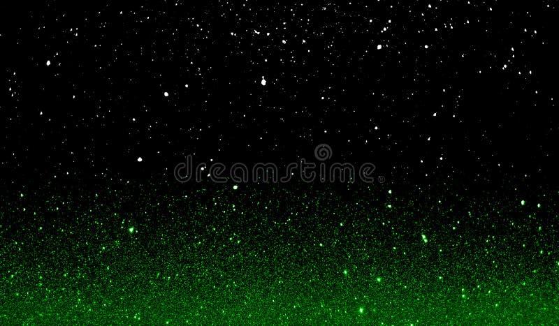 Текстурированные ярким блеском зеленые и черные затеняемые обои предпосылки стоковые изображения