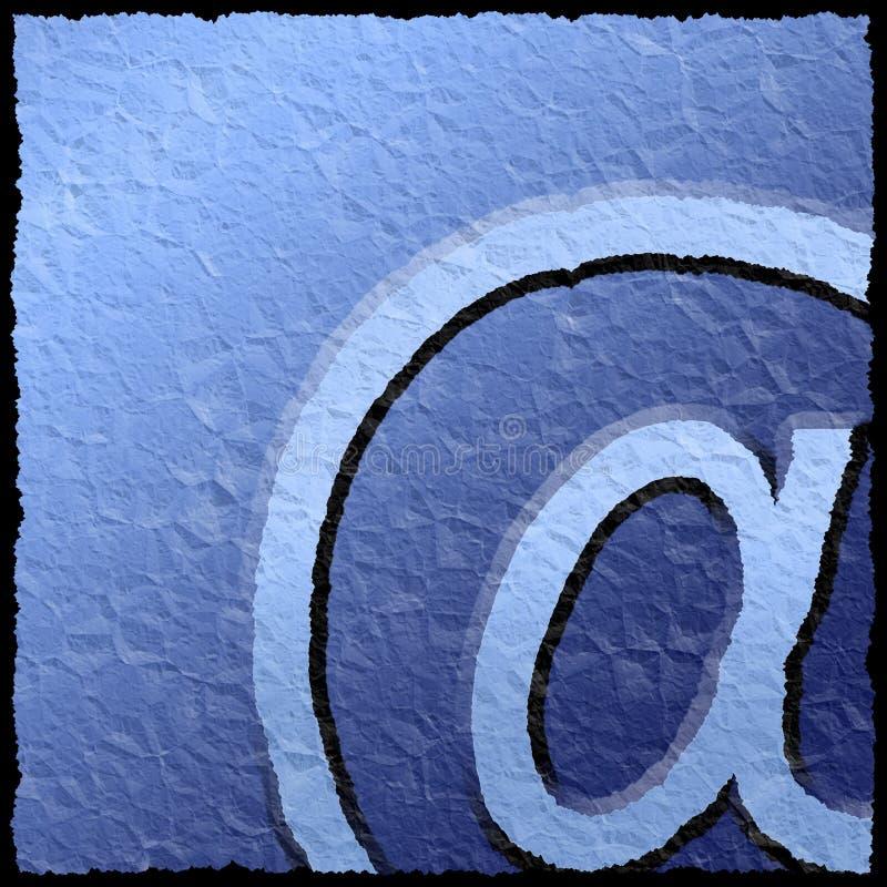 текстурированный знак электронной почты иллюстрация штока