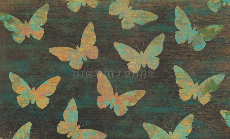 Абстрактные обои бабочки иллюстрация вектора