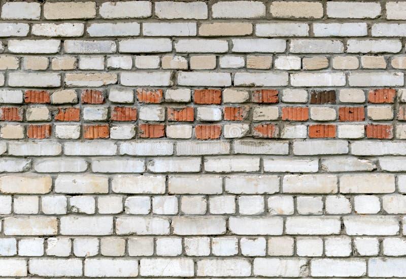 Текстурируйте кирпичную стену белого кирпича с картиной красного кирпича стоковое изображение