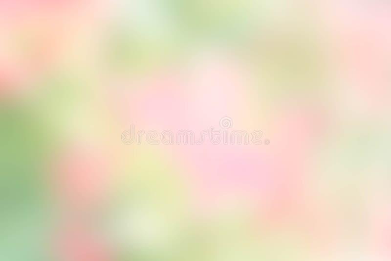 Текстурируйте пастель цвета нерезкости зеленую и розовую предпосылки природы нерезкости стоковое фото