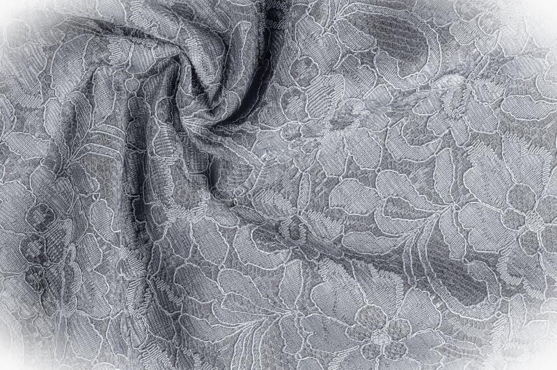 Текстурируйте фоновое изображение, черно-белую ткань с картиной стоковые фото