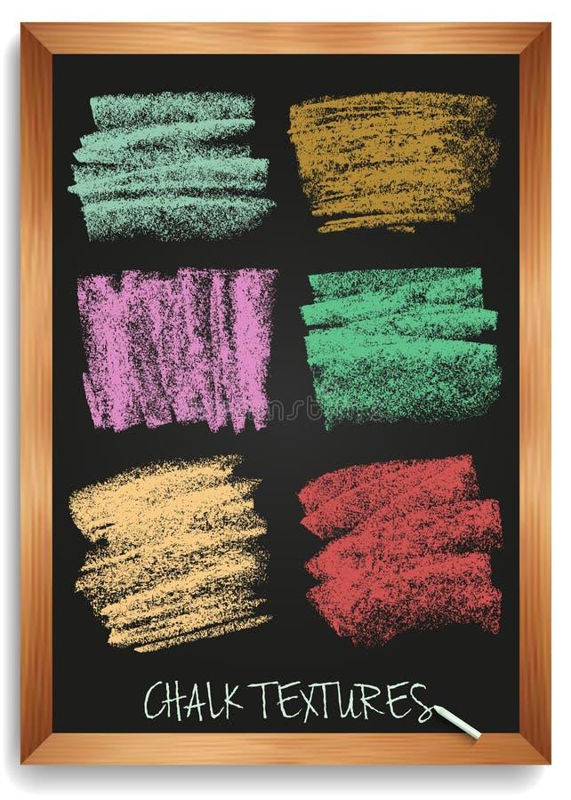 Текстуры мела и угля Ходы щетки вектора Мягкие пастельные цвета Декоративная рамка Высокое изображение разрешения иллюстрация штока
