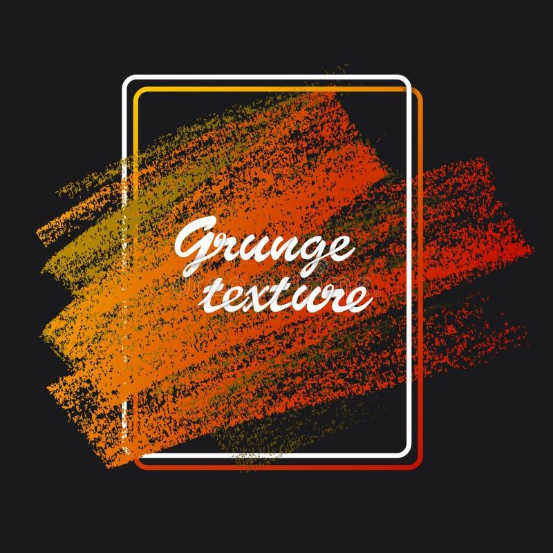 Текстуры мела и угля Ходы щетки вектора Мягкие пастельные цвета Декоративная рамка бесплатная иллюстрация