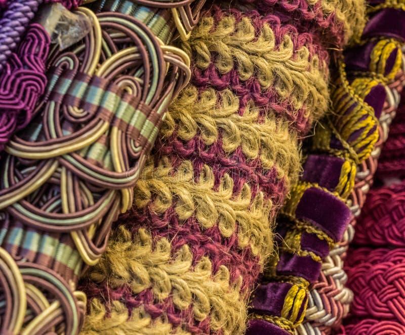 Текстуры отделки ткани стоковые фото