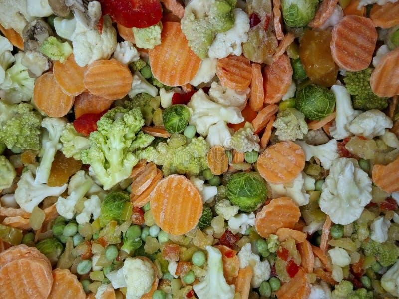 Текстуры предпосылки овощей Сортированные, который замерли овощи стоковые фотографии rf