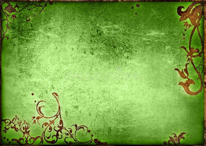 текстуры типа флористической рамки старые бумажные иллюстрация штока
