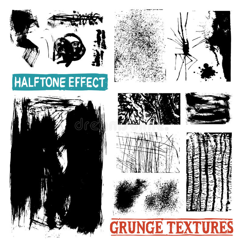Текстуры чертежа полутонового изображения Grunge иллюстрация вектора