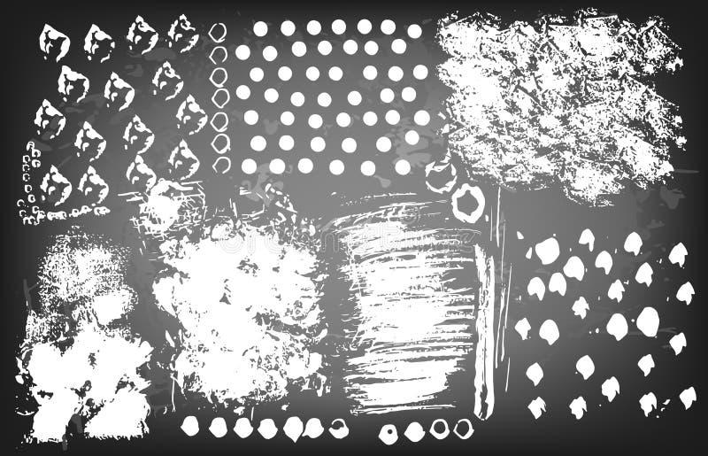 Текстуры Grunge и ходы щетки бесплатная иллюстрация