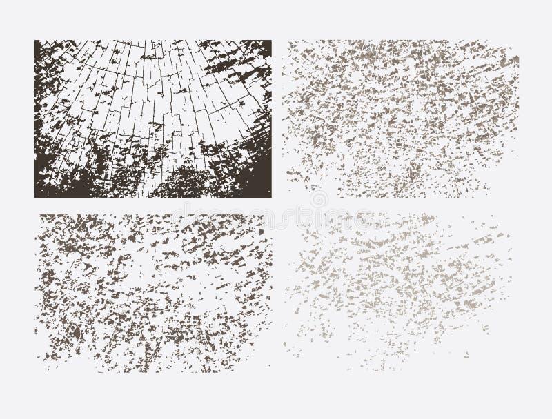 текстуры grunge установленные абстрактный вектор шаблона иллюстрация штока