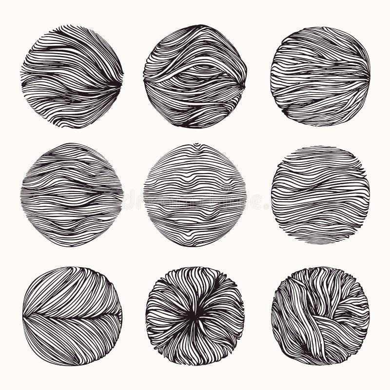 Текстуры Grungy руки вычерченные, ходы щетки Isolatad абстрактного clipart вектора фонов установленное на белой предпосылке бесплатная иллюстрация