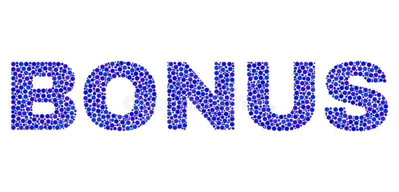 Текст БОНУСА в стиле точки иллюстрация штока