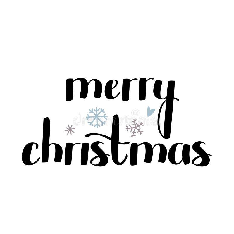 Текст веселого рождества милый смелый рукописный также вектор иллюстрации притяжки corel бесплатная иллюстрация