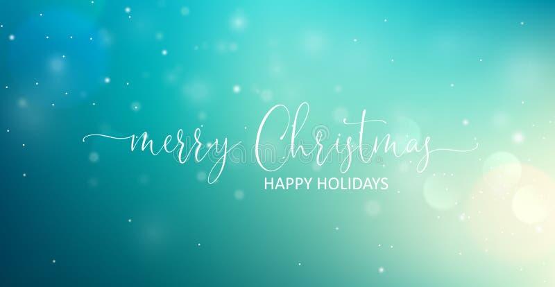 Текст веселого рождества приветствуя вектор иллюстрация штока