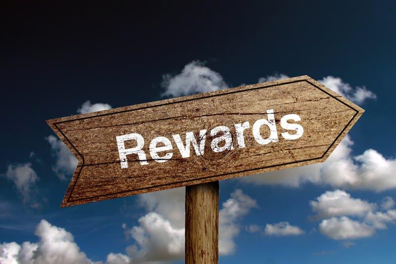 Текст вознаграждениями стоковое изображение
