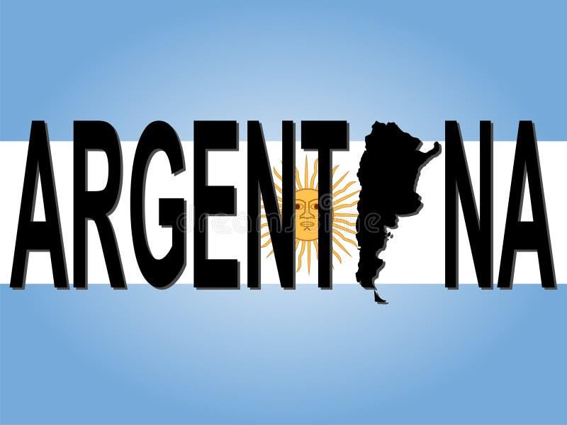 текст карты Аргентины бесплатная иллюстрация