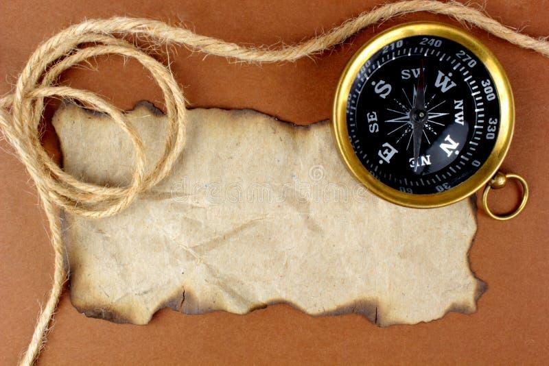 текст космоса веревочки компаса старый стоковая фотография rf