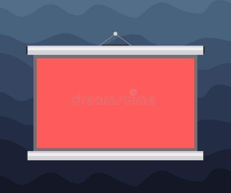 Текст космоса экземпляра шаблона концепции дела дизайна пустой для проекции пробела объявления изолированной вебсайтом портативно иллюстрация штока