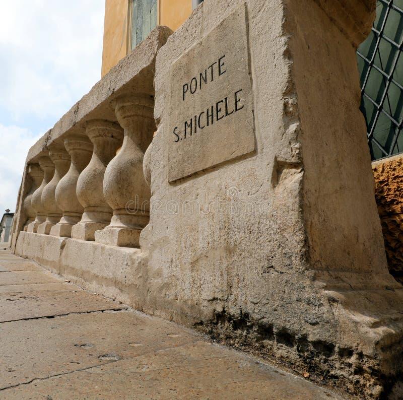 Текст который значит мост St Michael в итальянском языке в стоковая фотография rf