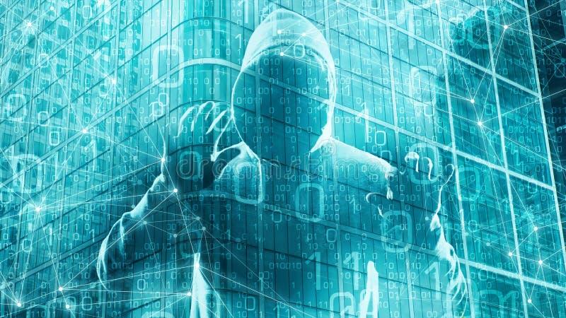 Текст машинного обучения мира цифров, данные по бинарных кодовых номеров цифровые иллюстрация штока