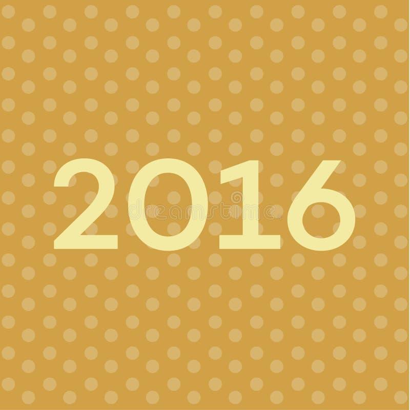 Текст 2016 на Новых Годах предпосылке, иллюстрации сверстницы шрифта иллюстрация штока