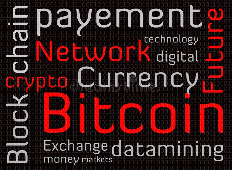 Текст облака слова Bitcoin стоковая фотография rf