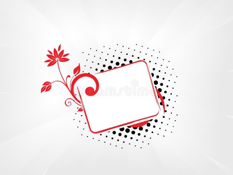 текст образца Grunge абстрактной предпосылки флористический Стоковые Фотографии RF