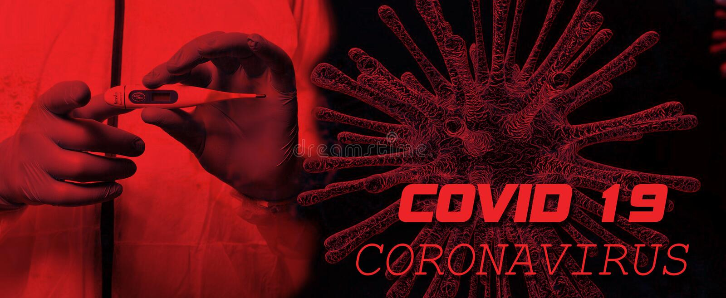 Текст оповещения Coronavirus Covid 19 стоковое фото rf