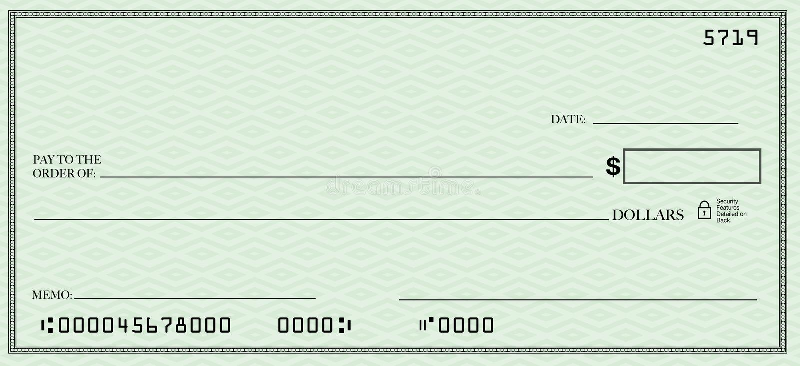 текст открытого пространства незаполненного чек ваш иллюстрация штока